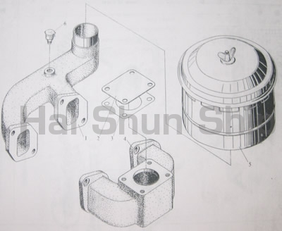 Intake and Exhaust Pipe Assy