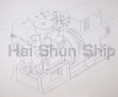 Generator Set Assembly Drawing