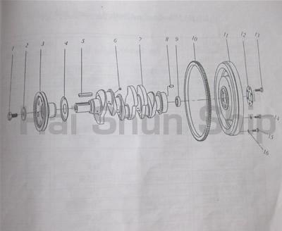 Crankshaft and Flywheel Assembly