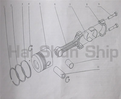 Piston and Connecting Rod Assembly